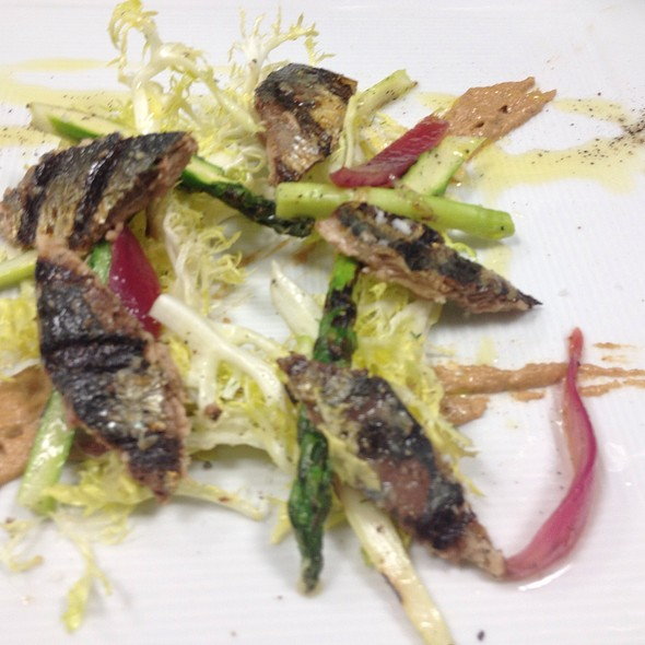 Grilled Fresh Sardine Blonde Frisée Salad, Tonight's Appetizer - Elaine's, Albuquerque, NM