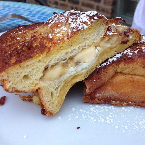 Banana Stuffed French Toast - Due Lire, Chicago, IL