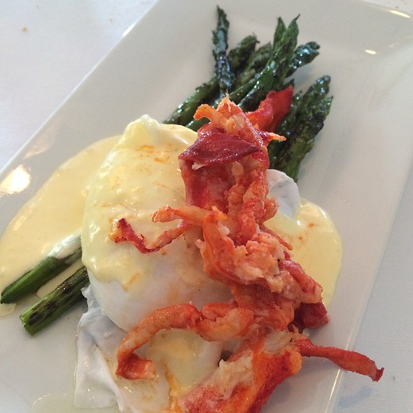 Grilled Asparagus With Poached Egg And Lobster Hollandaise - Harbor Mist Restaurant, Cold Spring Harbor, NY