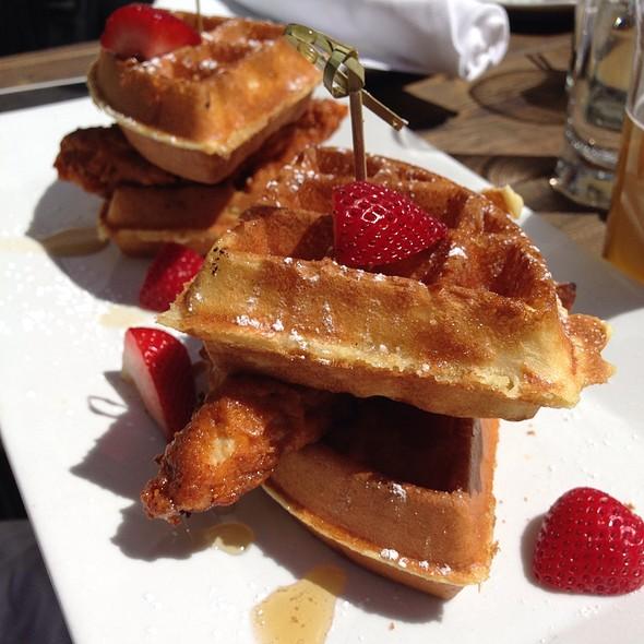 Chicken and Waffles - Banc Cafe, New York, NY