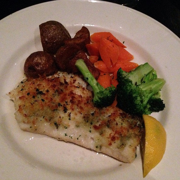 Baked Haddock - Go Fish Restaurant, Mystic, CT