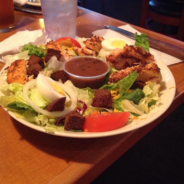 Salad With Grilled Salmon - Tondee's Tavern, Savannah, GA