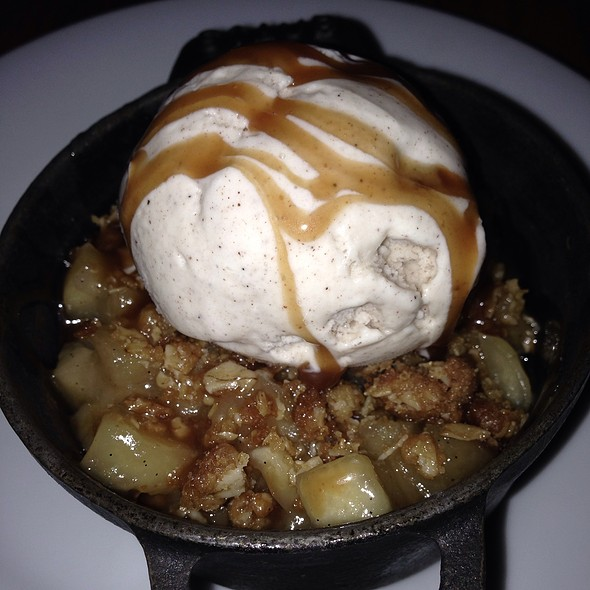 Apple Almond Crisp - Solera Restaurant & Wine Bar, Denver, CO