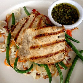 Grilled Wahoo Fish - The Grand Marlin of Pensacola Beach, Pensacola, FL