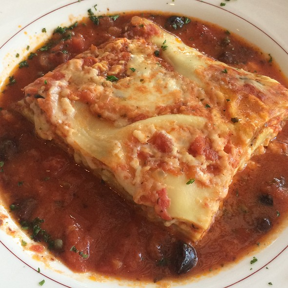 Lasagna Puttanesca - Raintree Restaurant, St. Augustine, FL