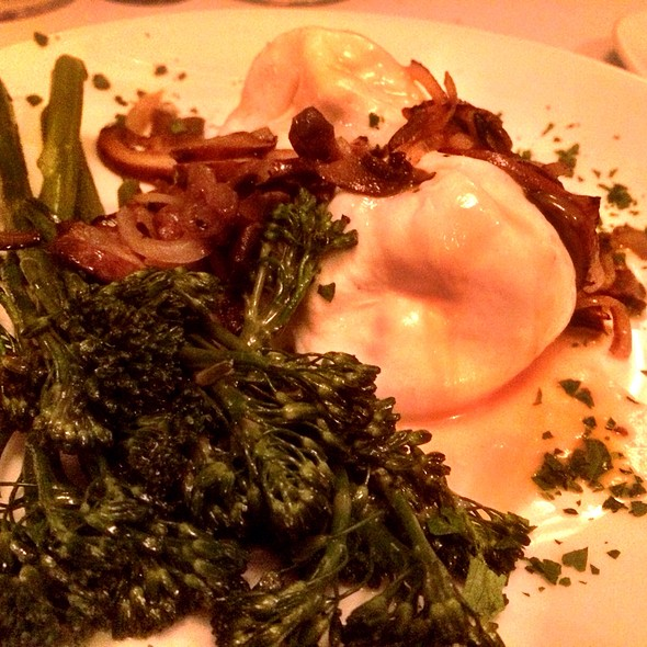 Burrata, Broccollini, And Mushroom Salad - Dakota's Steakhouse, Dallas, TX