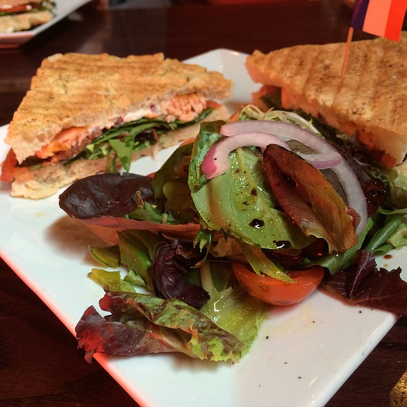Salmon Panini - Teca Restaurant & Wine Bar, West Chester, PA