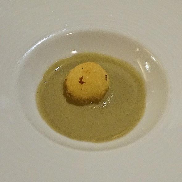 Artichoke soup, black truffle, parmesan croquette - Les Nomades, Chicago, IL