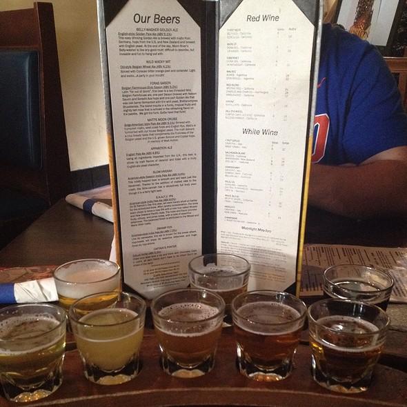 8 Beer Flight  - Moon River Brewing Company, Savannah, GA