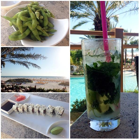 Spicy Tuna Roll & Edamame - Caretta on the Gulf at the Sandpearl Resort, Clearwater Beach, FL
