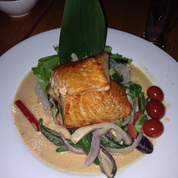 Pan Seared Penang Curry Salmon - Spice 28, Philadelphia, PA