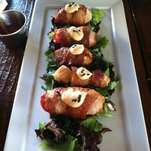 Bacon-wrapped Diver Scallops - Succulent Cafe, Solvang, CA