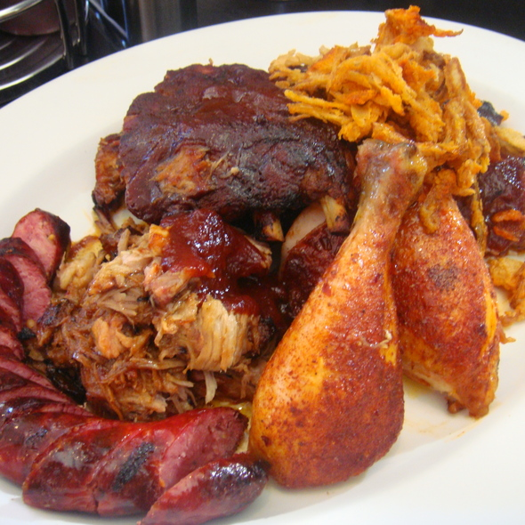 Taste of the Q - Baby Back Ribs, Chicken, Brisket, Pulled Pork, Sausage - The Q Restaurant & Bar (fka BarBersQ), Napa, CA
