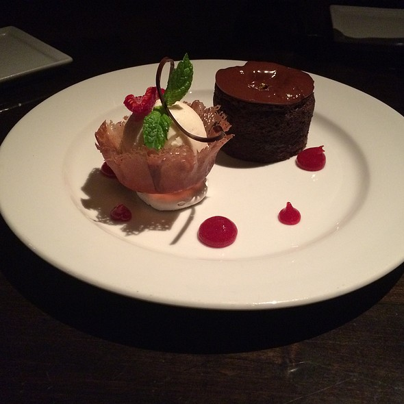 flourless chocolate cake - Koi, West Hollywood, CA