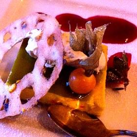 Pistachio Cheesecake - The Bengal Lounge - The Fairmont Empress Hotel, Victoria, BC
