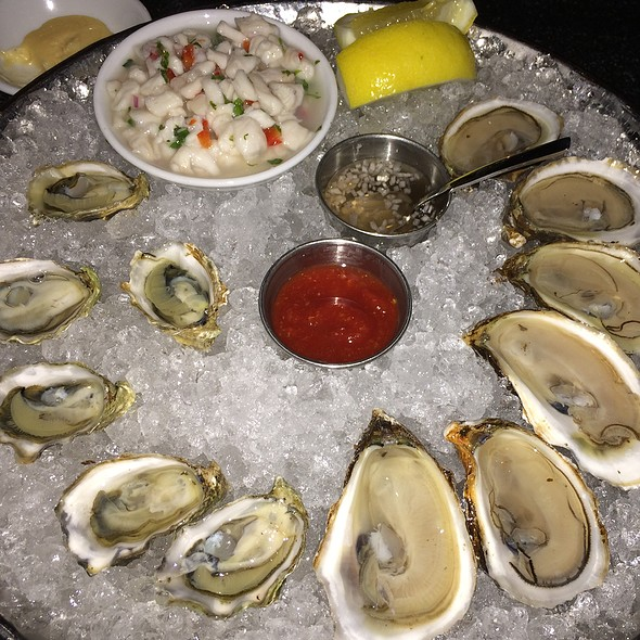 Kumamoto, Daisy Bay Oysters And Lobster Ceviche - Island Creek Oyster Bar, Boston, MA