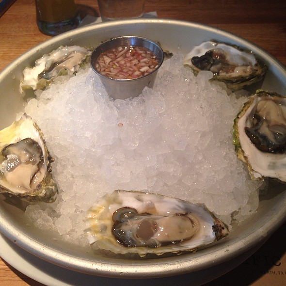 Blue Point Oysters On The Half Shell - Pacific Table, Fort Worth, TX