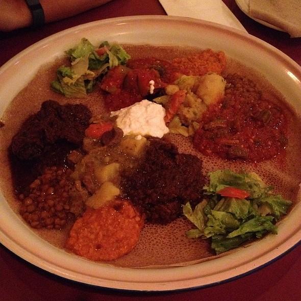Meat And Vegetarian Samplers - Assab Eritrean Cuisine, San Francisco, CA
