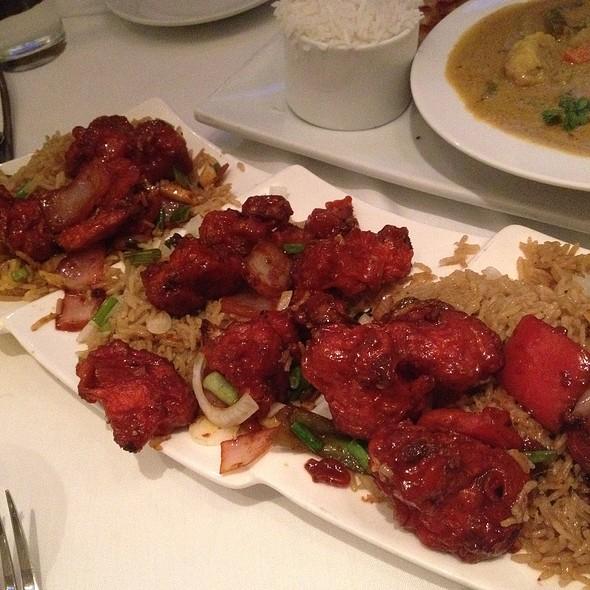 Gobi Manchurian With Thai Style Fried Rice - Cholanad Restaurant and Bar, Chapel Hill, NC