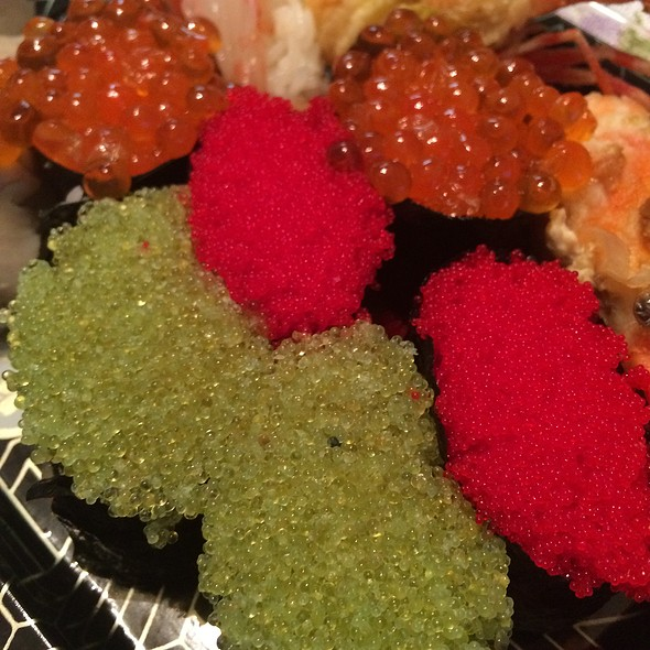 Wasabi Tobiko, Habanero Masago, & Ikura - Sushi Zushi - Downtown, San Antonio, TX