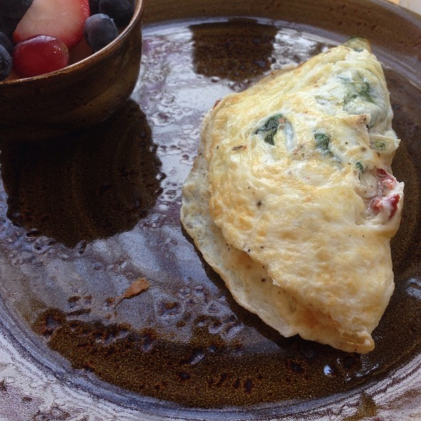 Spinach & Goat Cheese Egg White Omelette - Roost, Greenville, SC