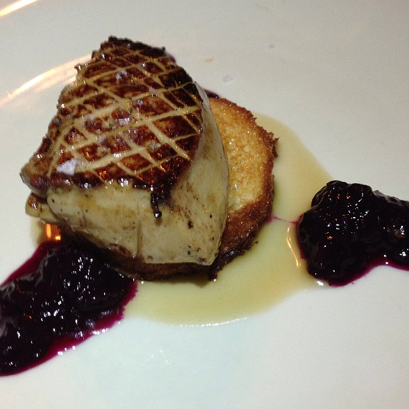 Foie Gras with Blueberry Reduction - Chef's Table at the Edgewater, Winter Garden, FL