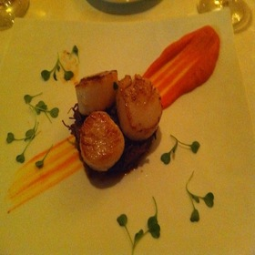 Scallops With Short Ribs - The Table Restaurant at the H Hotel, Midland, MI