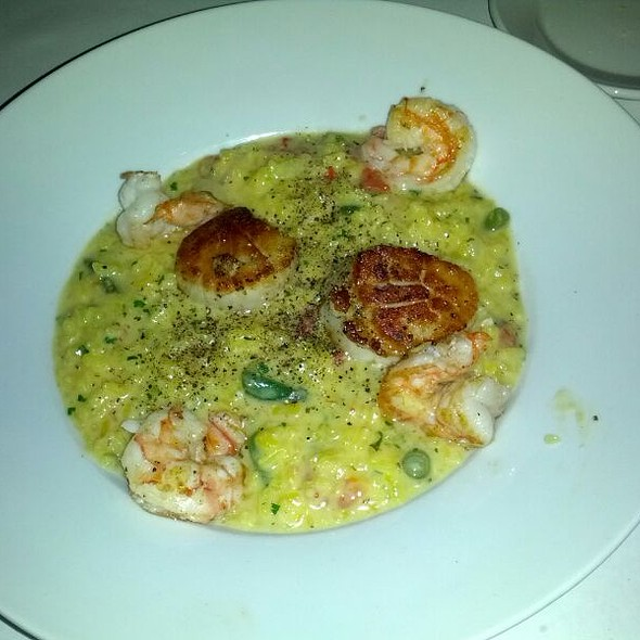 Saffron Risotto With Shrimp And Scallops - The Metro Wine Bar & Bistro, Oklahoma City, OK