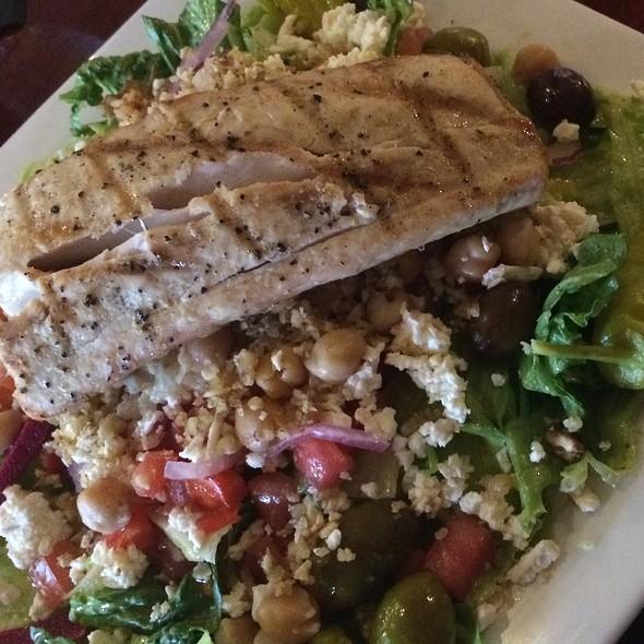 Grilled Mahi Mahi On Mediterranean Salad - Skewers Mediterranean Grille, Indialantic, FL