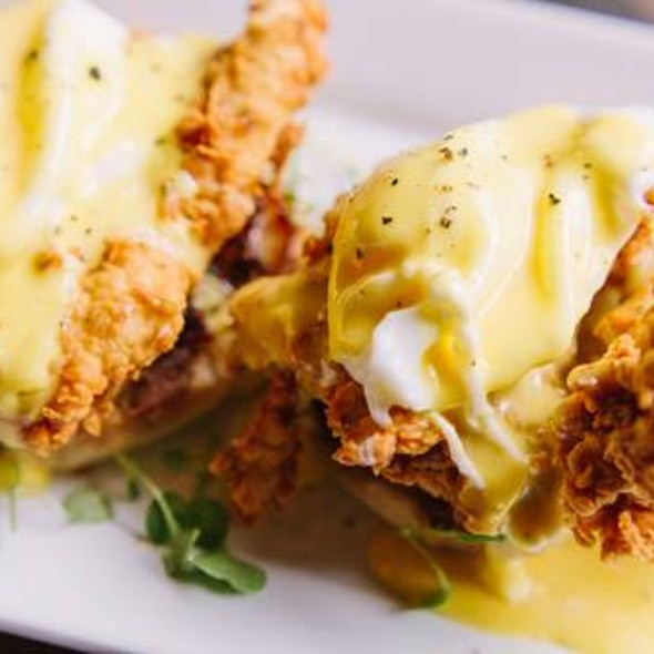 Fried Chicken Eggs Benedict - Dovetail - Macon, Macon, GA