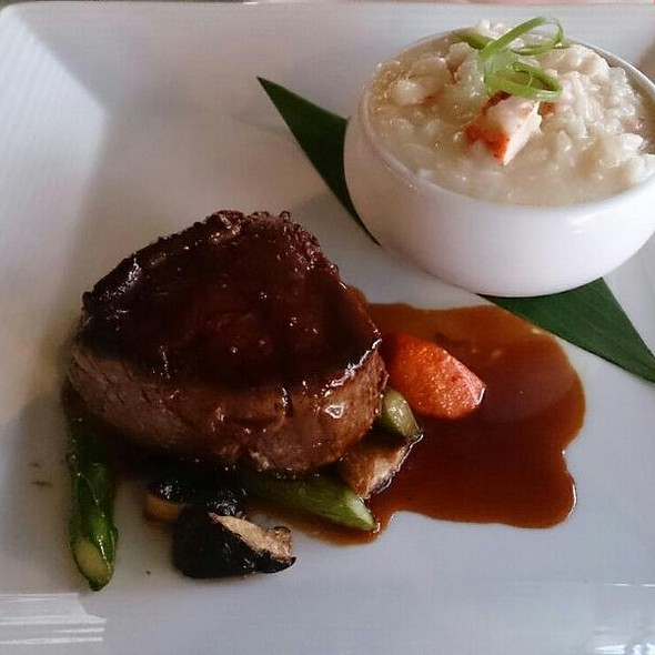 Surf N Turf - Filet Mignon And Lobster Risotto - Pa'akai, North Shore, HI