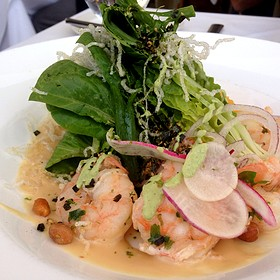 shrimp salad - Restaurant at the Getty Center, Los Angeles, CA