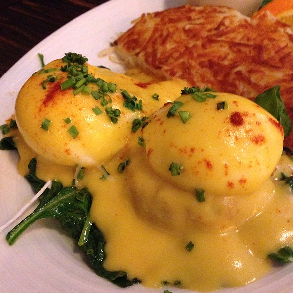 Crab Cake Eggs Benedict - JUNO, Seattle, WA