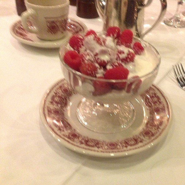 Raspberry Romanoff - Sparks Steak House, New York, NY
