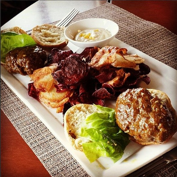 Spiced Moroccan Burgers - Academic Bistro - Drexel University, Philadelphia, PA
