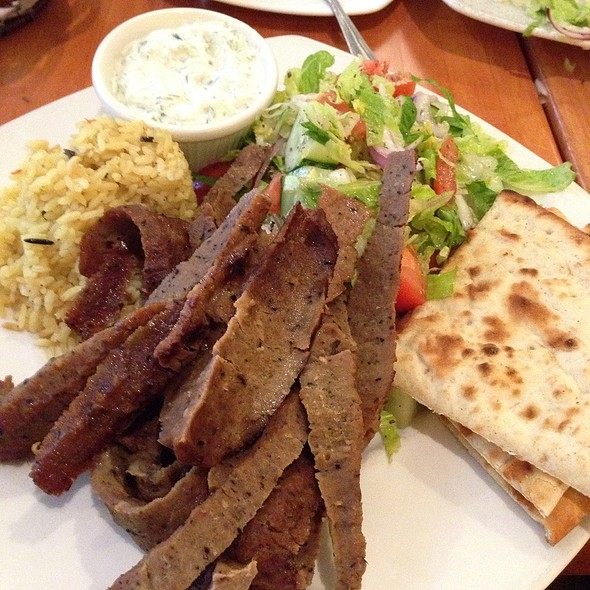 Gyro Platter With Rice - Greek Taverna - Edgewater, Edgewater, NJ