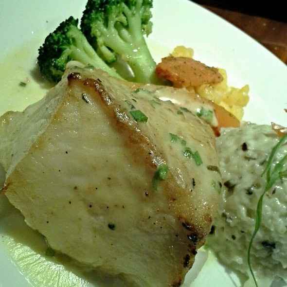Chilean Sea Bass w/ Mushroom Risotto - E&E Stakeout Grill, Bellair Bluffs, FL