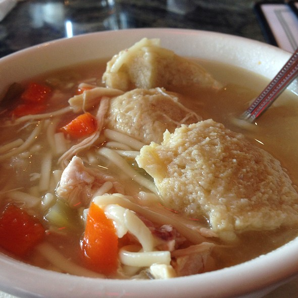 Matzo Ball soup - Max's Restaurant & Bar of Burlingame, Burlingame, CA
