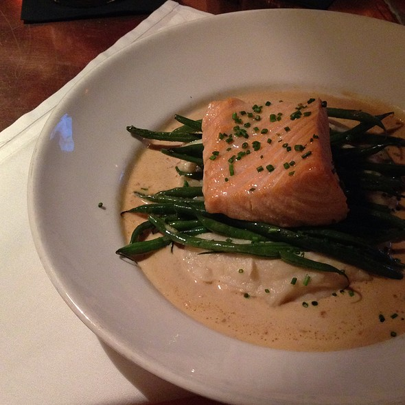 Poached Salmon - Temple Bar, Cambridge, MA