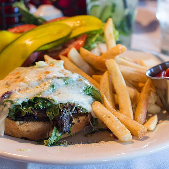 Grilled Portabello Burger - Ladera Grill - Morgan Hill, Morgan Hill, CA