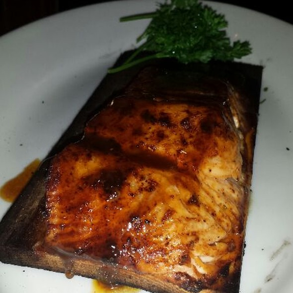 Wood Planked Soy Brown Sugar Glazed Salmon - Wildfire - Oak Brook, Oak Brook, IL
