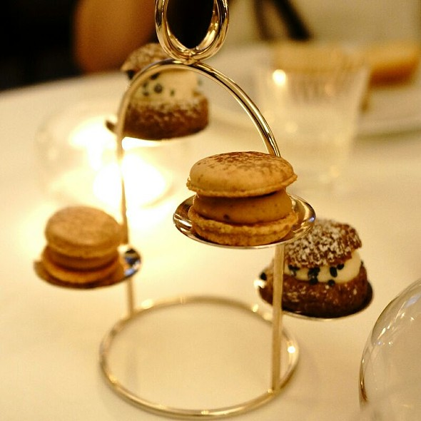 Chocolate Cream Puffs And Macarons - Hélène Darroze at the Connaught, London