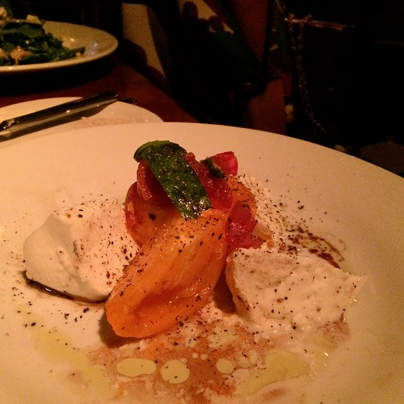 Burrata With Heirloom Tomatoes - 32 East, Delray Beach, FL