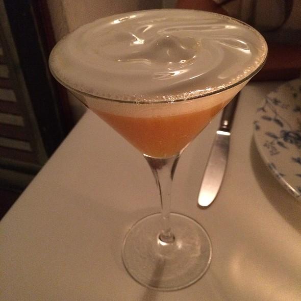 Passion Fruit Martini With Coconut Foam - Cafe des Artistes - Puerto Vallarta, Puerto Vallarta, JAL