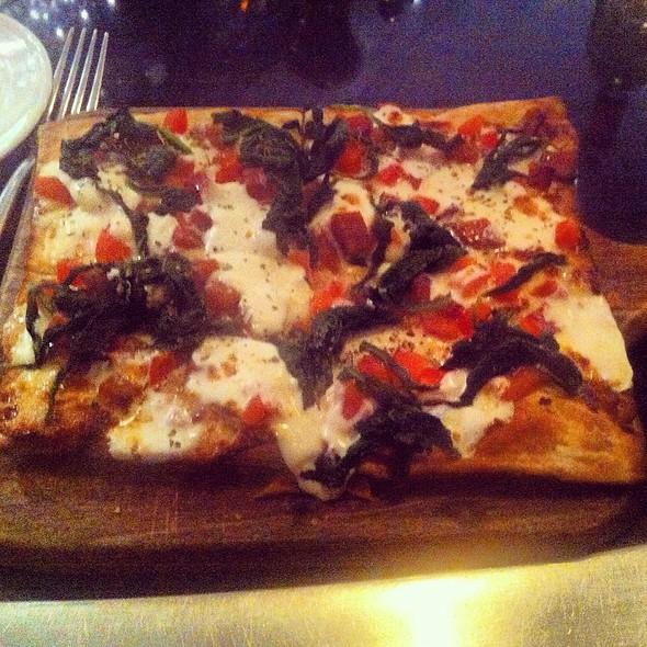 Spicy Salami Flatbread Pizza - Morrell Wine Bar & Cafe, New York, NY