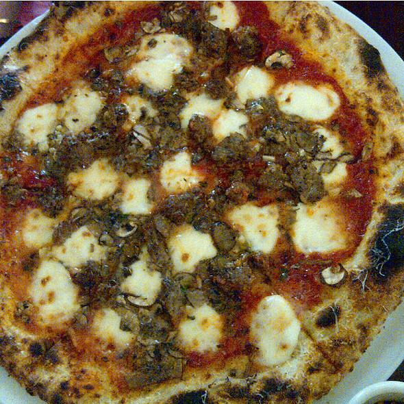 Sausage And Mushroom Pizza - Varasano's Pizzeria, Atlanta, GA
