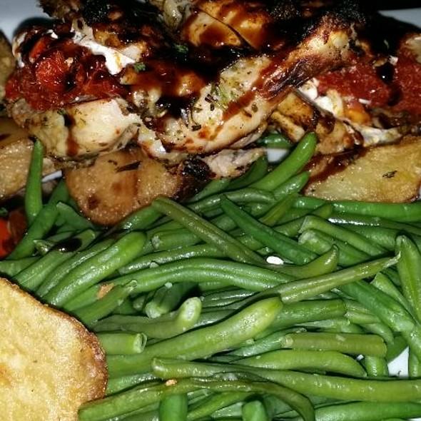 Goat Cheese Stuffed Chicken Breast, Potatoes And Green Beans - SAGE Woodfire Tavern - Perimeter, Atlanta, GA