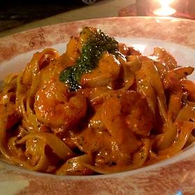 Fettuccine Al Pesto With Shrimp - Cibo Wine Bar-Coral Gables, Miami, FL