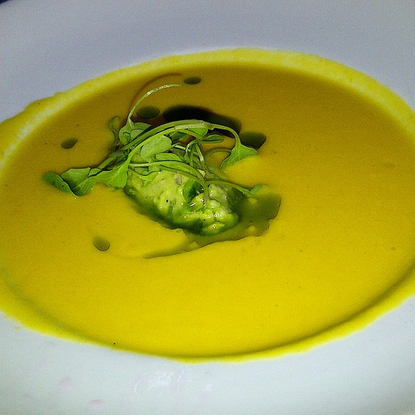 Yellow Tomato Gazpacho - Haven Restaurant, Atlanta, GA
