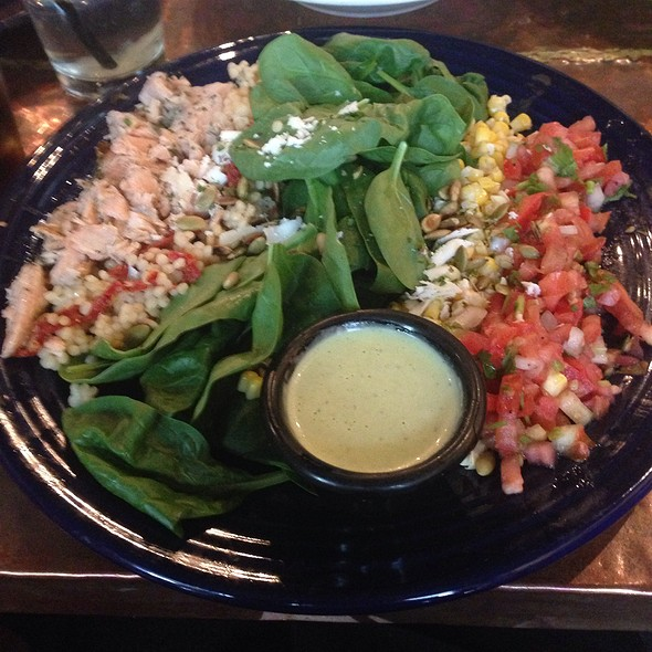 Salmon Chopped Salad - Stokes Grill and Bar - Old Market, Omaha, NE